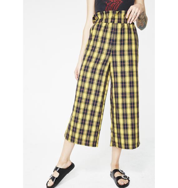 Glamorous Class Dismissed Plaid Pants