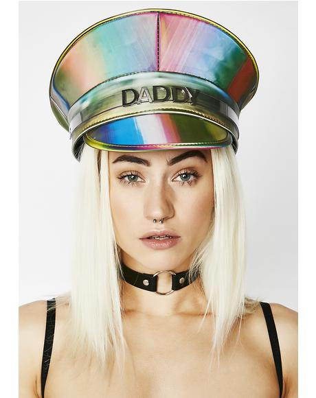 Rainbow Daddy Captain Hat