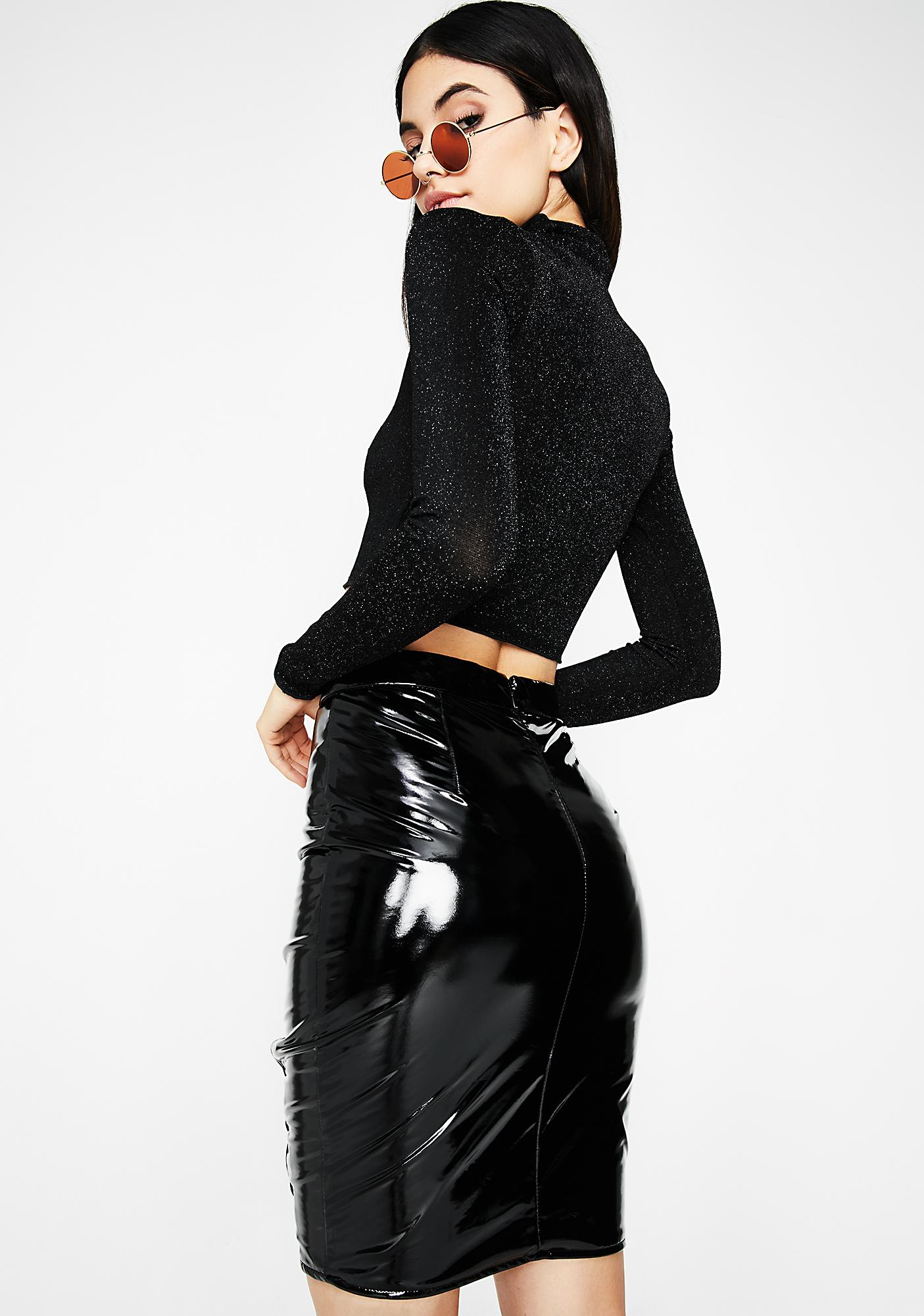 What U Think Vinyl Skirt