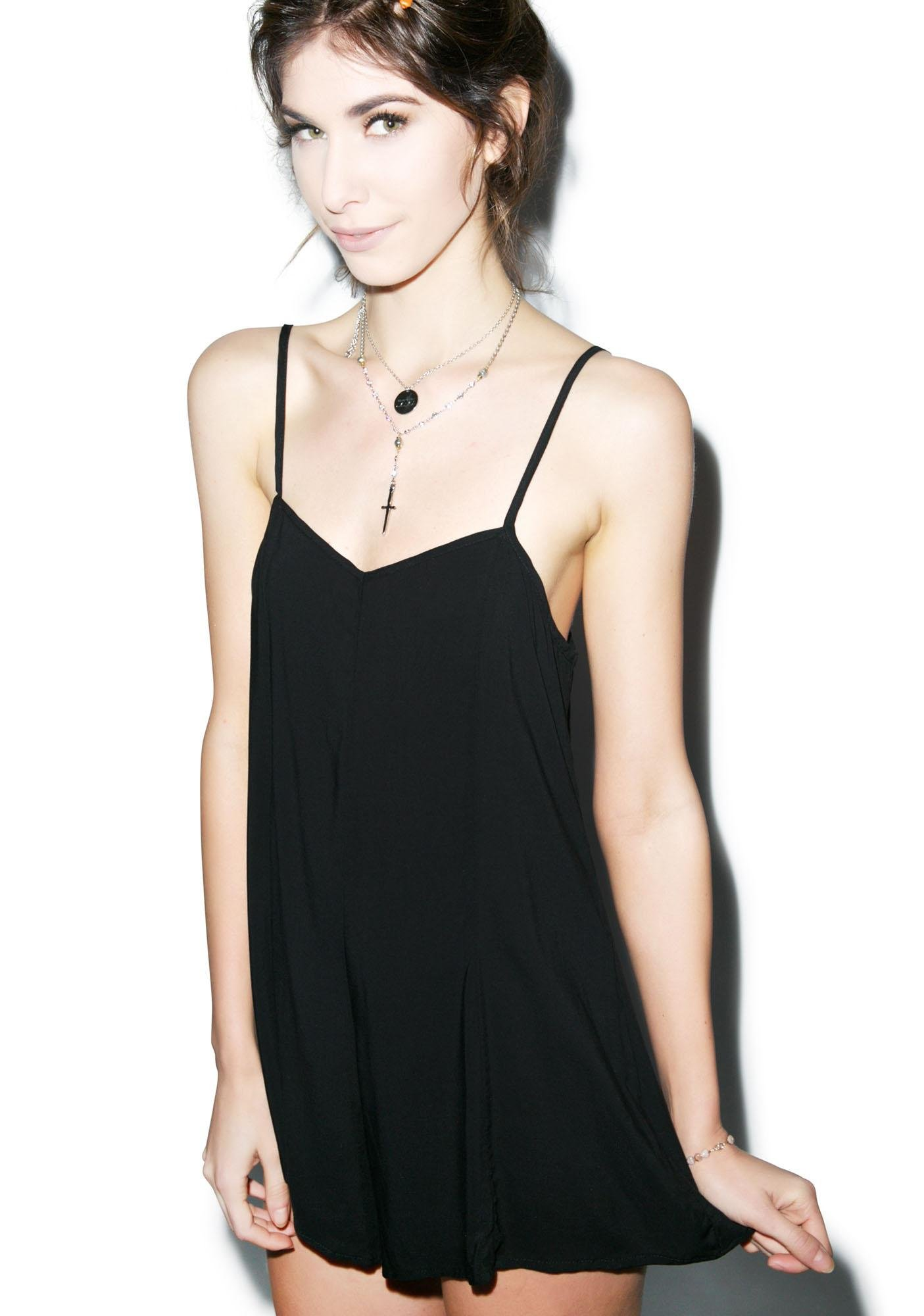 Wildfox Couture Clean Black Riviera Romper