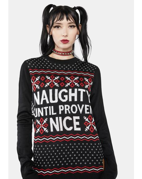 Naughty List Holiday Sweater
