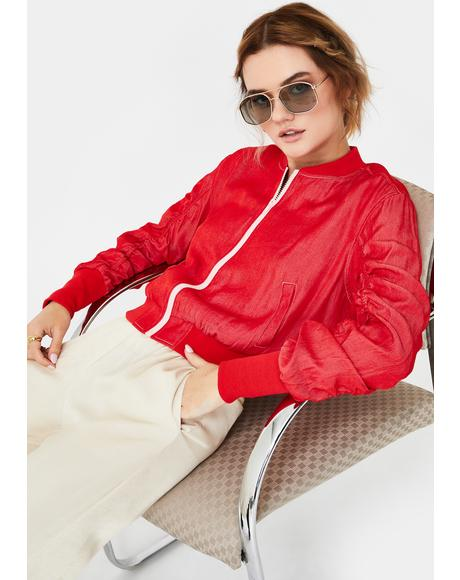 Cherry Horizon Bomber Jacket
