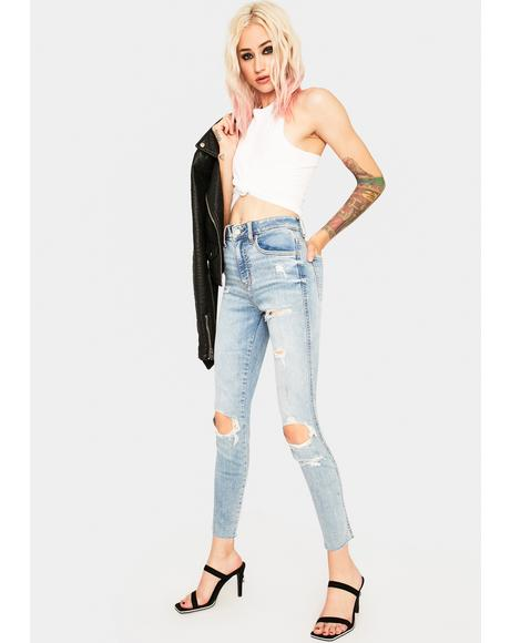 Money Maker Distressed Jeans