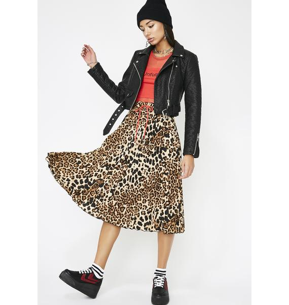 Unchained Leopard Skirt