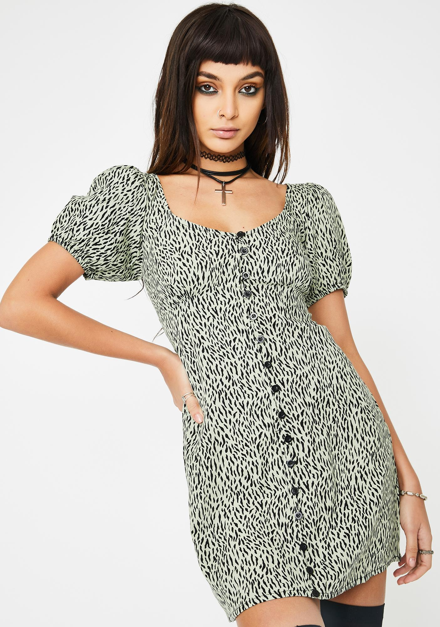 Motel Leopard Montero Mini Dress