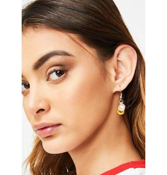 King's Cup Beer Earrings