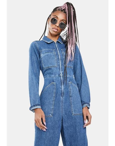 Workwear Denim Boiler Suit
