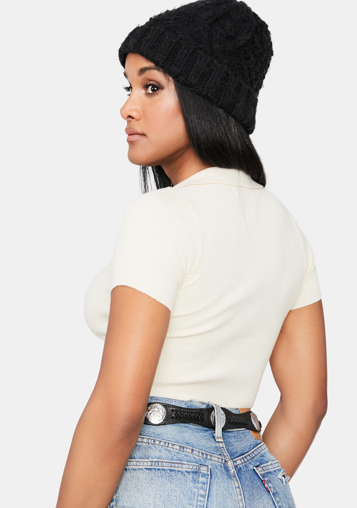 Let's Go Downtown Ribbed Crop Tee