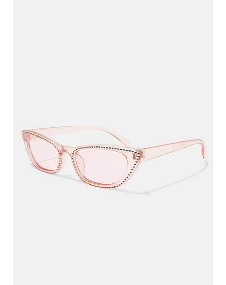 Sweet Freeze Frame Cat Eye Sunglasses