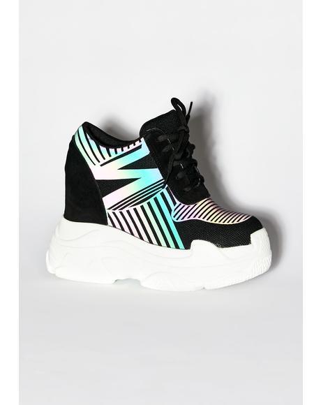 Dark Essential Sidekick Reflective Sneakers