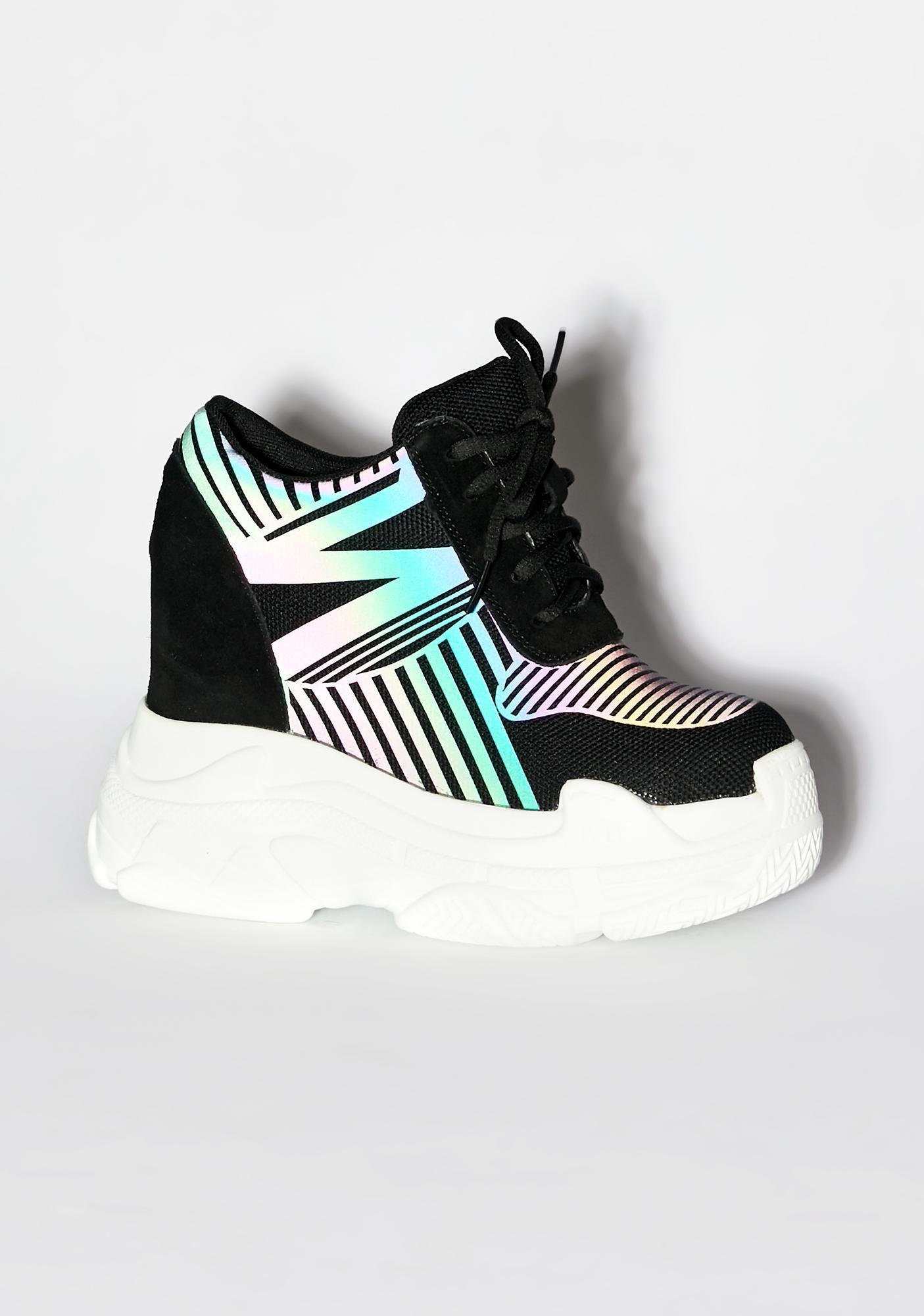 Anthony Wang Dark Essential Sidekick Reflective Sneakers