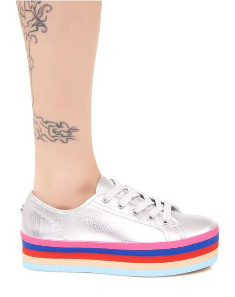 Rainbow Sole Lace-Up Shoes