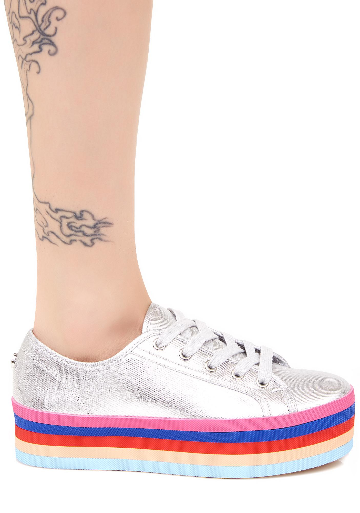 Steve Madden Rainbow Sole Lace-Up Shoes