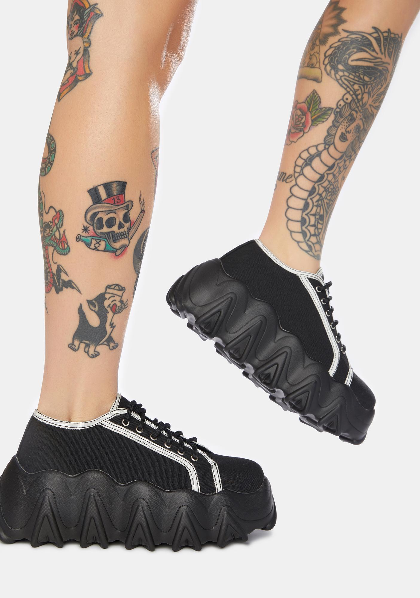 Lamoda Black Easy Life Chunky Platform Sneakers