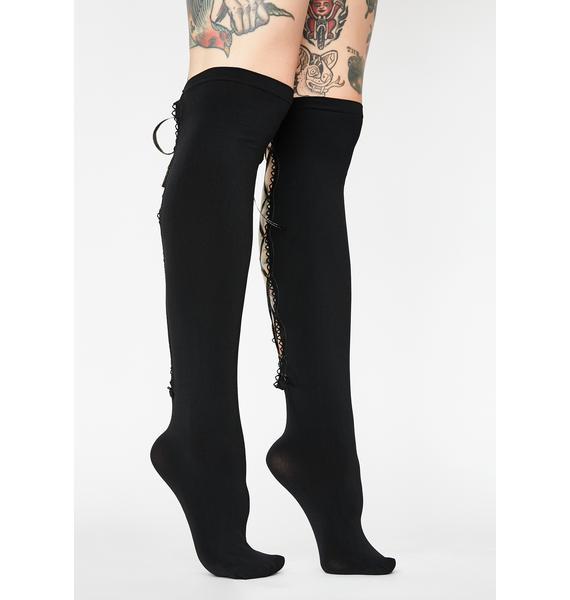 Horrid Heiress Lace Up Socks