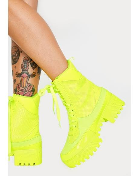 Shock Easy Peasy Lace Up Boots