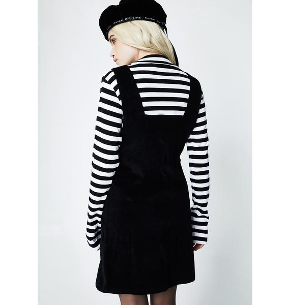 Lazy Oaf Heart Buckle Corduroy Dress