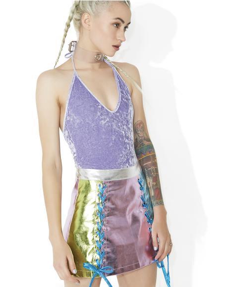 Lavandin Velvet Bodysuit
