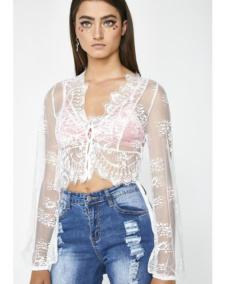 Sweet As Pie Lace Top