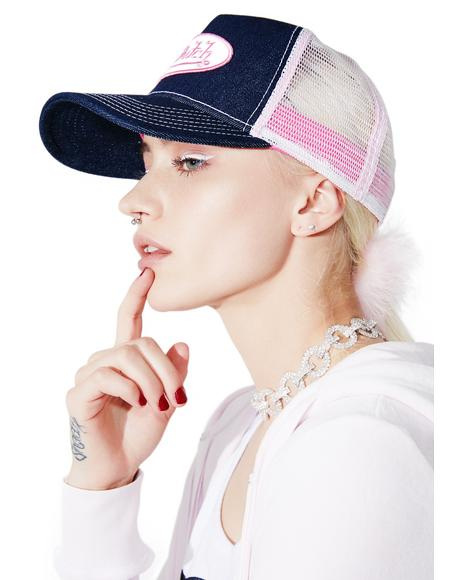 Pink Logo Trucker Hat