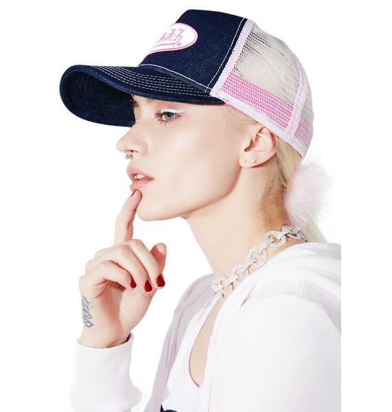 Von Dutch Pink Logo Trucker Hat