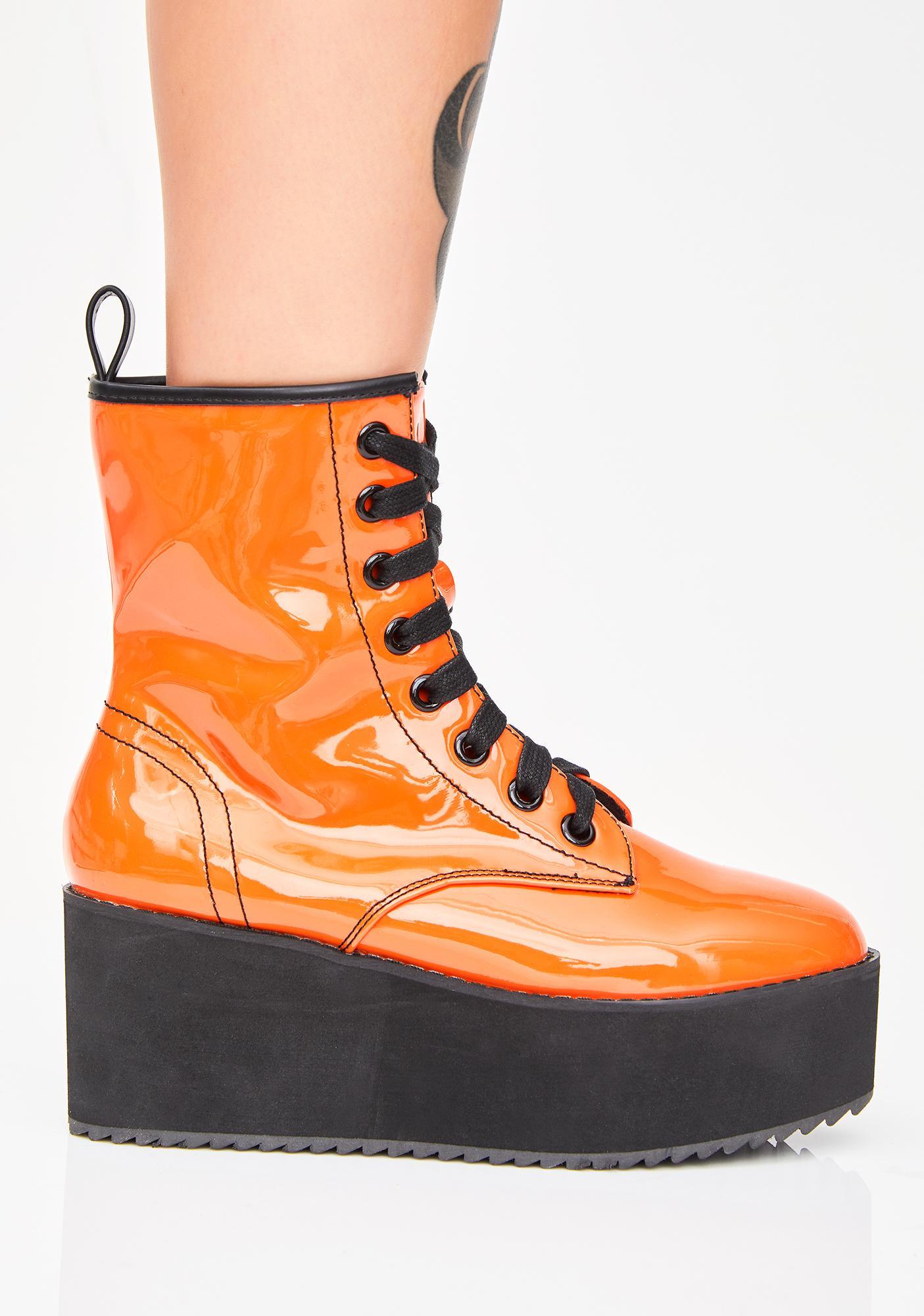 Strange Cvlt Juiced Stomp Hi Patent Boots