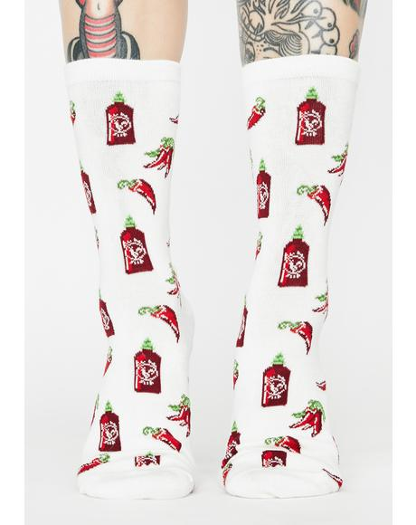 Sriracha Pepper Crew Socks