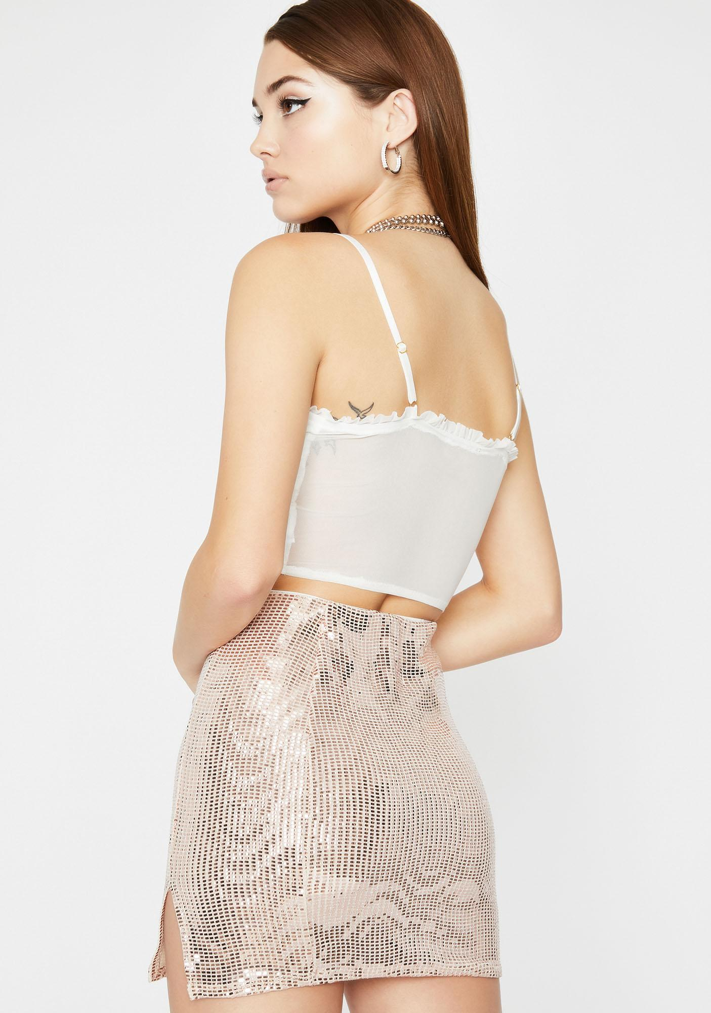 Glossy Galore Sequin Skirt
