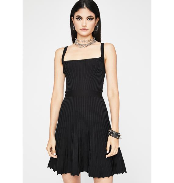 Evening's Doll Pleated Dress