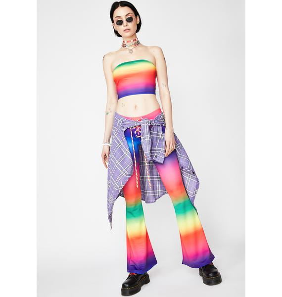 Current Mood Psychedelic Sunrise Tube Top