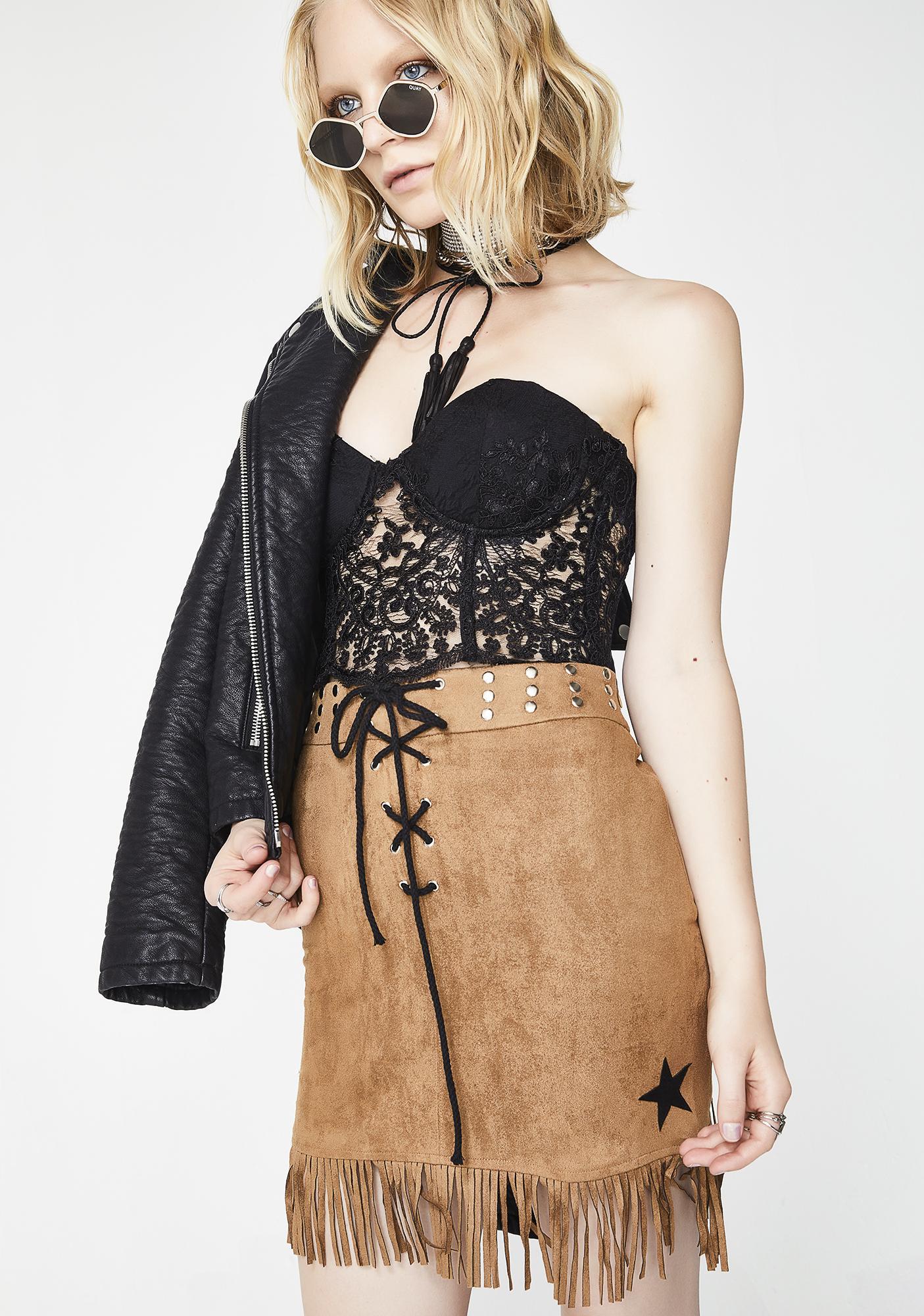 Glamorous New Sheriff In Town Mini Skirt