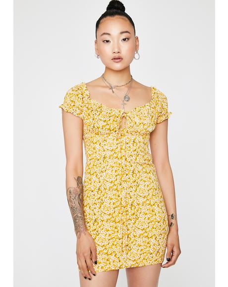 Sassy Sunbeam Floral Dress