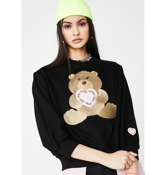 Little Sunny Bite Clap Clap Bear Stitch Sweater