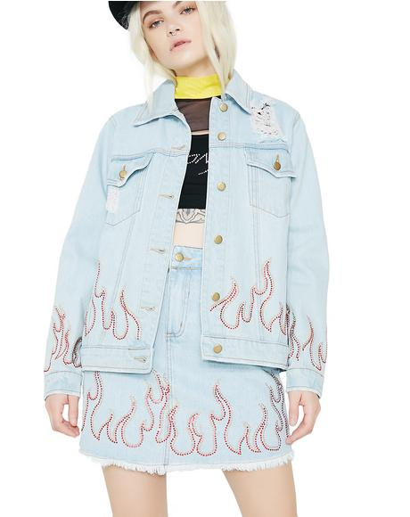 Wildfire Distressed Denim Jacket