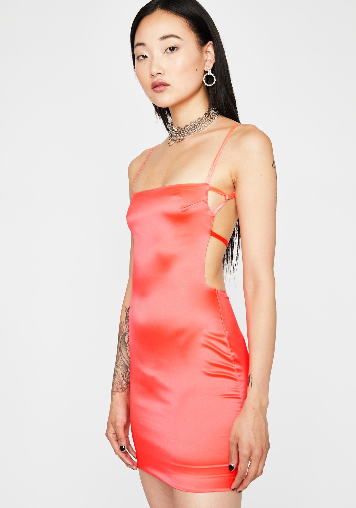 Made Ya Look Satin Dress