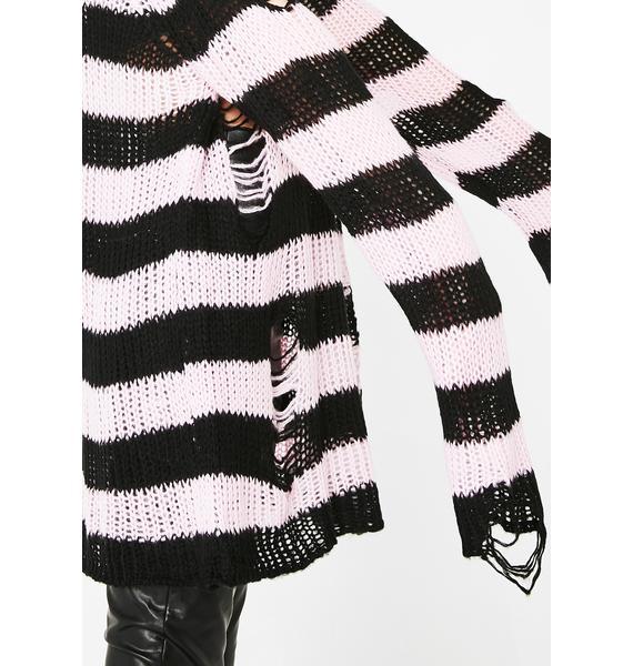 Killstar Courtney Distressed Knit Sweater