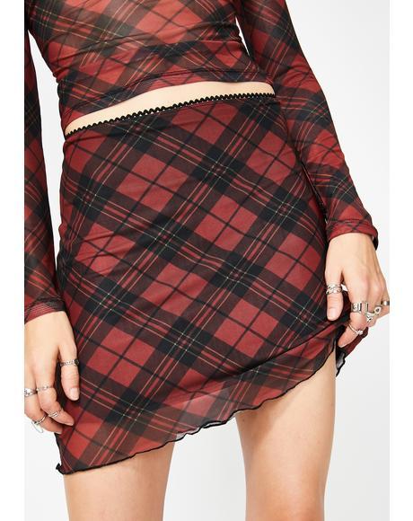 Trouble Starter Mesh Skirt