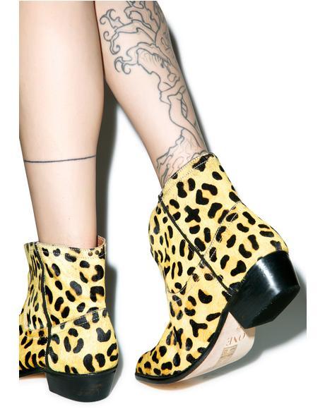 Leopard Le Rebel Bootie