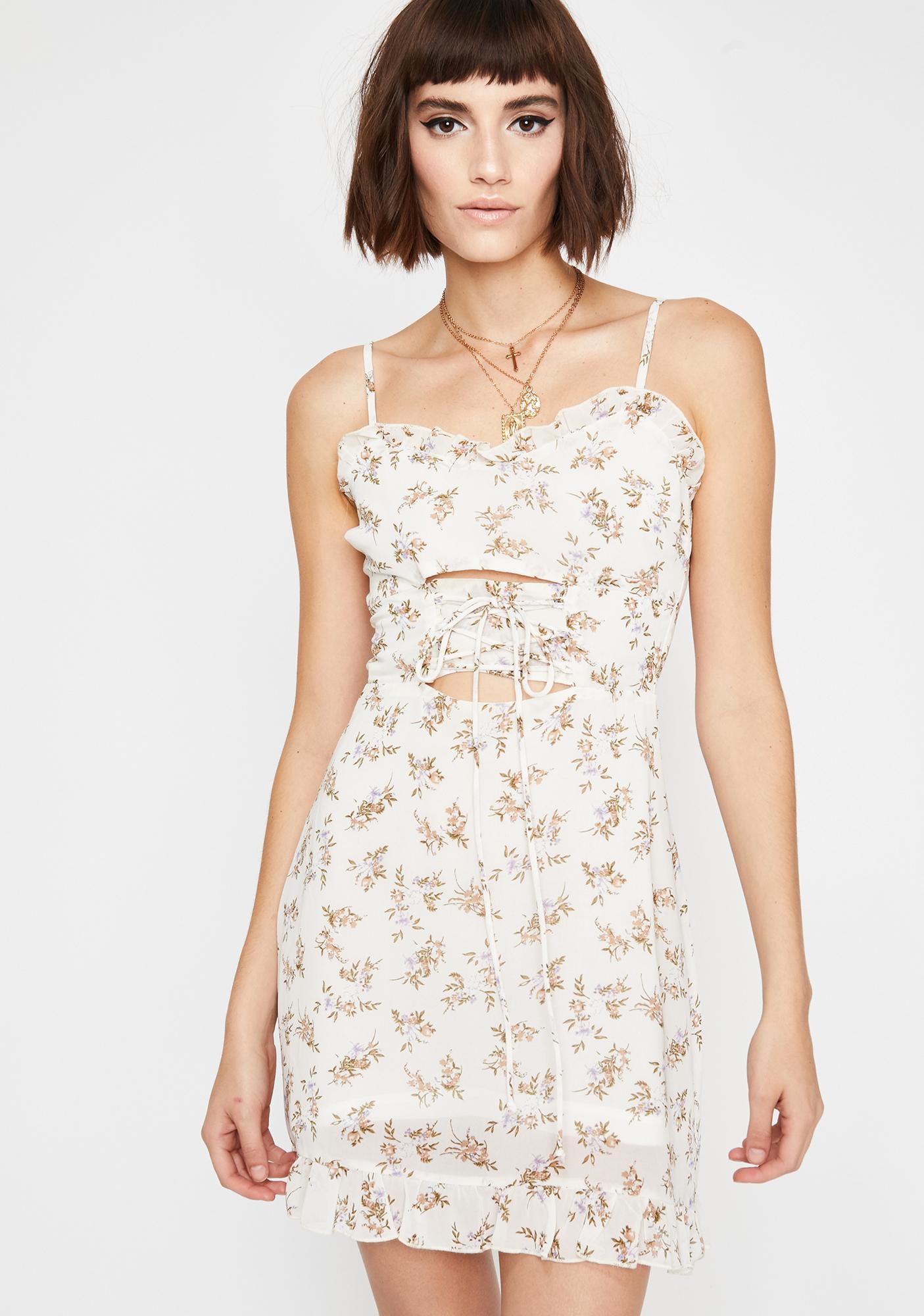 838e6fd34c9c Floral Corset Waist Mini Dress | Dolls Kill