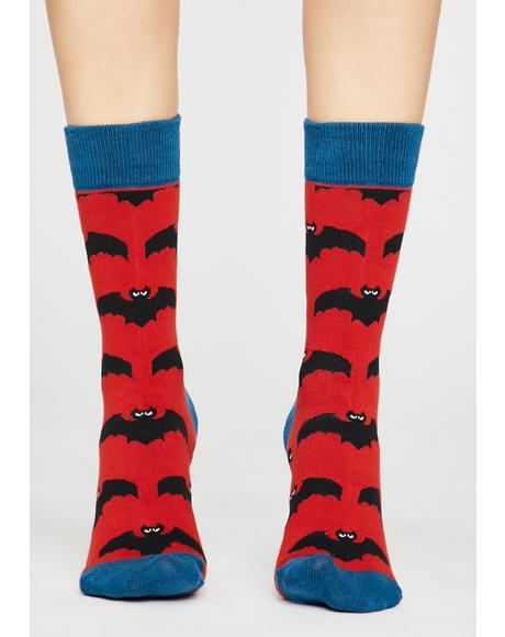 Scare Night Bat Socks