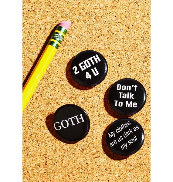 Witch Worldwide Too Goth Pin Pack