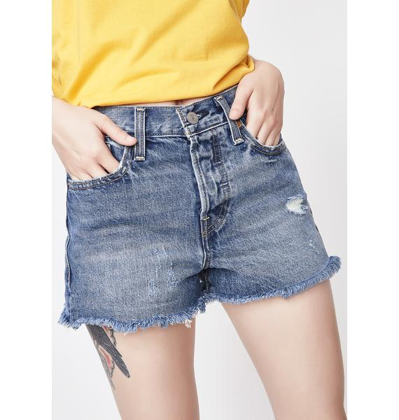 Levis High Rise Wedgie Shorts