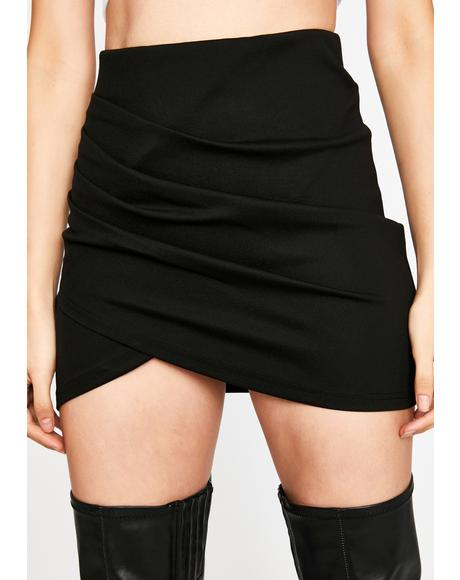No Disrespect Ruched Skirt