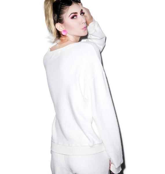 Wildfox Couture Happy Cat Oversized Sweatshirt