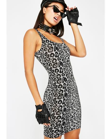 Drive 'em Crazy Leopard Dress