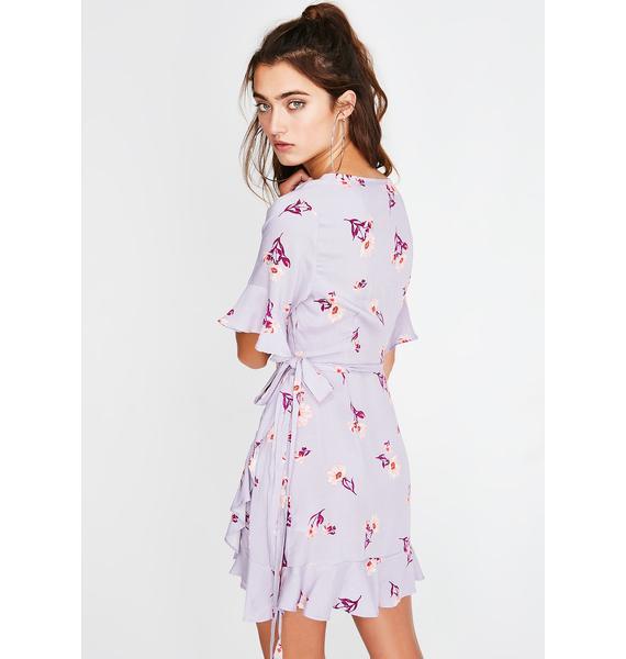 Flower Flirt Wrap Dress