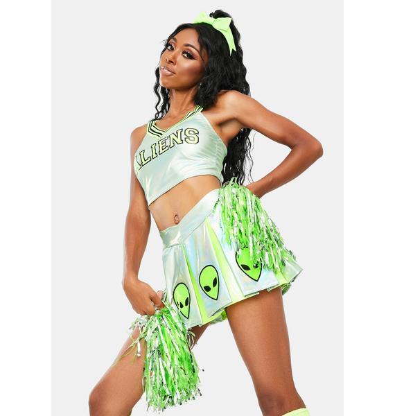 Dolls Kill Area 51 Raid Cheerleader Costume