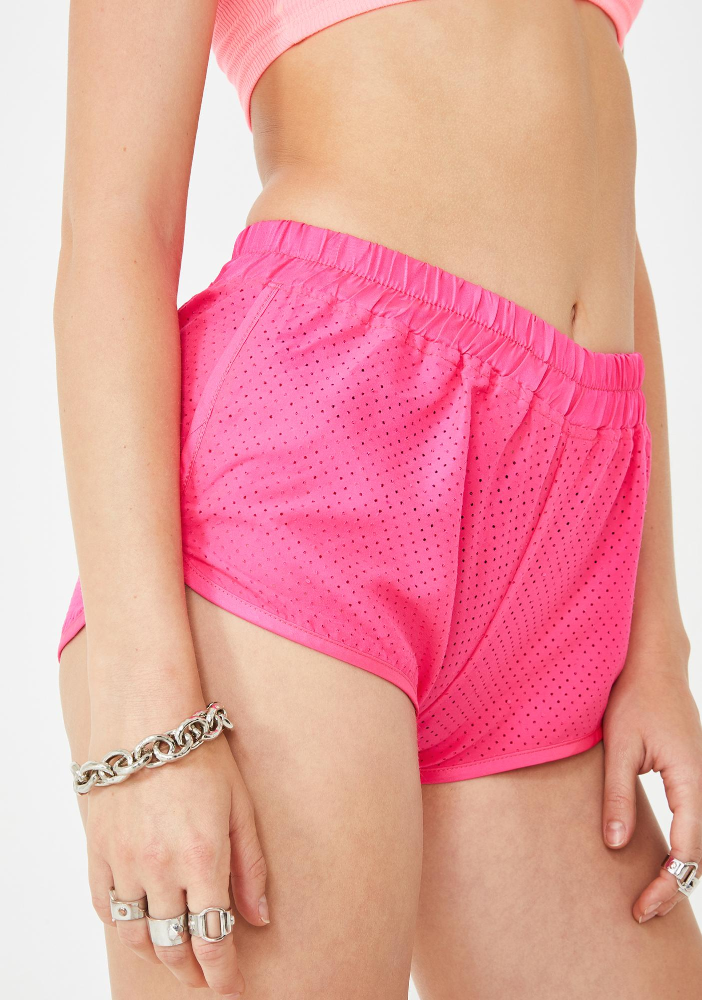 Rojas Perforated Dolphin Shorts