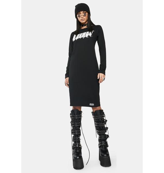 Electric Witch Weirdo Long Sleeve Midi Dress