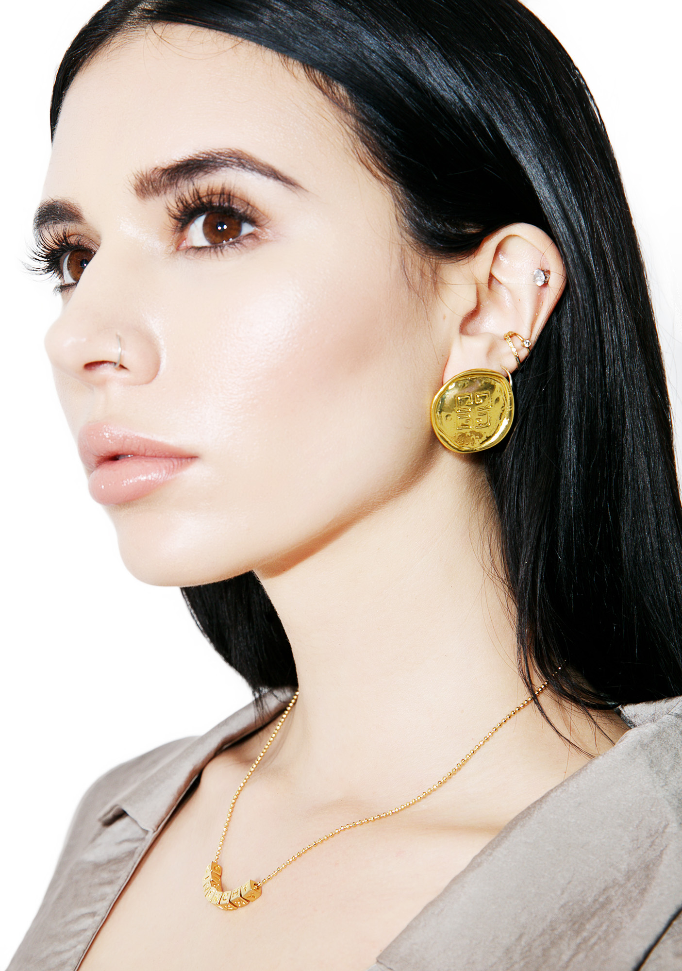 Refurbished Givenchy Coin Earrings